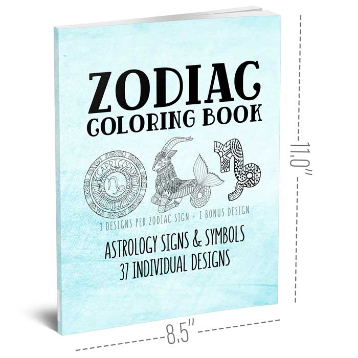 - Zodiac Coloring Book - Belle Journals